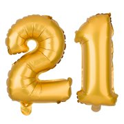 21 Party Balloons For 21st Birthday Decoration Ideas And Supplies Large Balloon Numbers