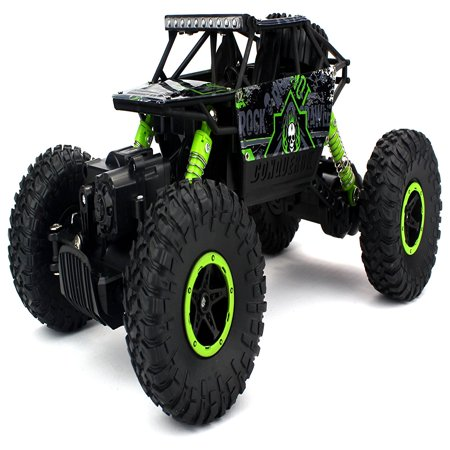 Losi Comp Crawler - Velocity Toys Rock Crawler Remote Control RC High Performance Truck 2.4 GHz Control System 4WD All-Weather 1:18 Size Ready To Run (Colors May Vary)