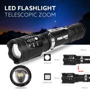 Super Bright Zoomable CREE XM-L T6 LED 18650 Tactical Flashlight Torch Light