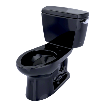 TOTO® Drake® Two-Piece Elongated 1.6 GPF Toilet with Right-Hand Trip Lever, Ebony - CST744SR#51 ()