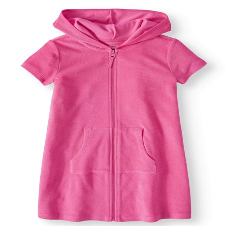Zip Front Hooded Swim Coverup (Little Girls & Big Girls)