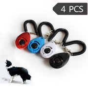 Outtop 4 Piece New Dog Pet Click Clicker Training Trainer Aid Wrist Strap
