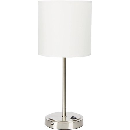Barcelona Table Lamp - Mainstays White Grab and Go Stick Lamp with USB Port
