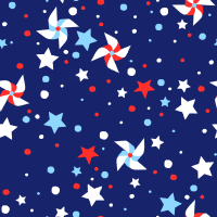 """RTC Patriotic Fabrics 100% Cotton, Pinwheel Star, 44"""" Wide, 140 Gsm, Quilt, Crafts By The Yard"""