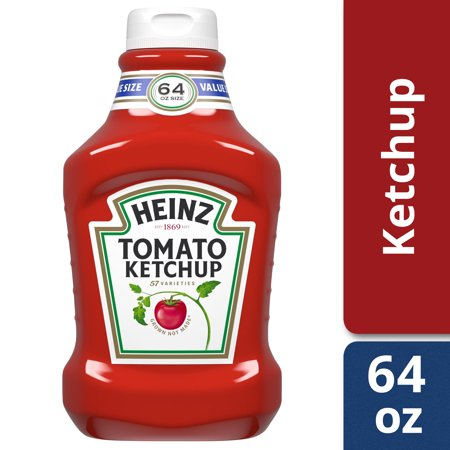 - Heinz Tomato Ketchup, 64 oz Bottle