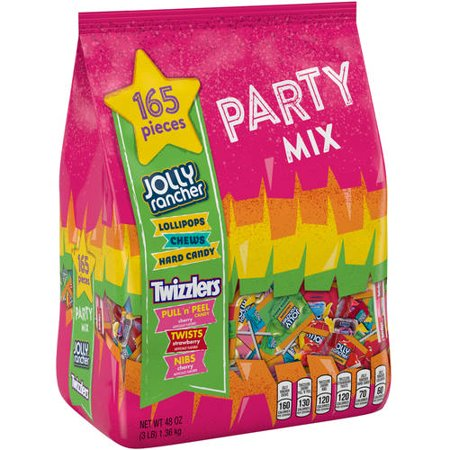 Jolly Rancher and Twizzlers, Snack Size Party Mix Assortment Candy, 48 Oz, 165 Count
