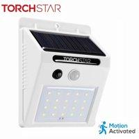 TORCHSTAR 20 LED 320LM Solar Powered Motion Sensor Lights, Wireless Outdoor Wall Lighting, White