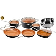Gotham Steel 12-Piece Nonstick Frying Pan and Cookware Set – As Seen on
