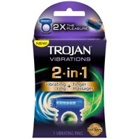 Trojan Vibrations 2-in-1 Vibrating Ring + Finger Massager