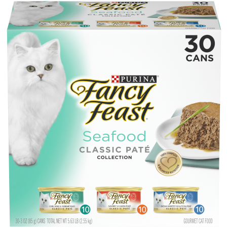 Purina Fancy Feast Seafood Classic Pate Wet Cat Food Variety Pack