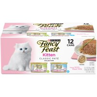 Fancy Feast Kitten Classic Pate Variety Pack Wet Cat Food, 3-oz cans, case of 12