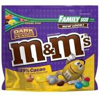(2 Pack) M & M's 49% Cacao Dark Chocolate Peanut Candies, 19.2 oz