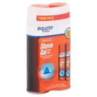 Equate Sensitive Skin Shave Gel with Aloe Twin Pack, 7 oz, 2 count