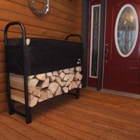 Firewood Rack-in-a-Box Heavy Duty Rack with Cover, 4'