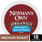 Newman's Own Organics Special Blend Coffee, Keurig K-Cup Pod, Medium Roast, 18ct