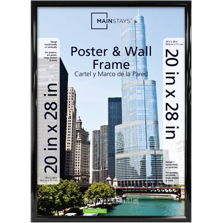 Mainstays 20x28 Trendsetter Poster And Picture Frame Black