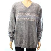 0c8d1fd967c8 Club Room NEW Gray Mens Size XL V-Neck Cashmere Fair Isle Knit Sweater
