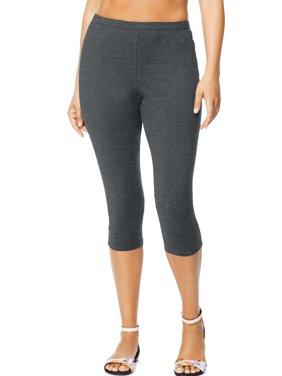 Women's Plus-Size Stretch Jersey Capri Legging