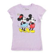 efbf947b61d Disney Girls  T-shirt Featuring Mickey and Minnie Mouse