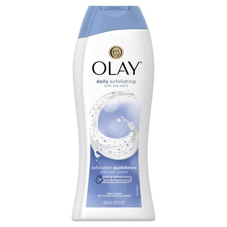 - Olay Daily Exfoliating with Sea Salts Body Wash, 22 oz