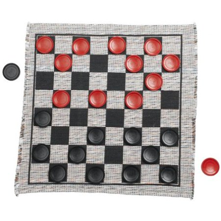 Checkers Box Set - Jumbo Checker Rug Game
