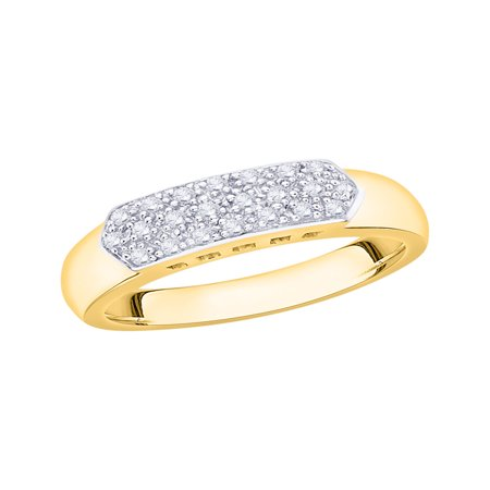 Diamond Anniversary Ring in 10K Yellow Gold (1/5 cttw) (I-Color, SI3/I1-Clarity) (Size-8)