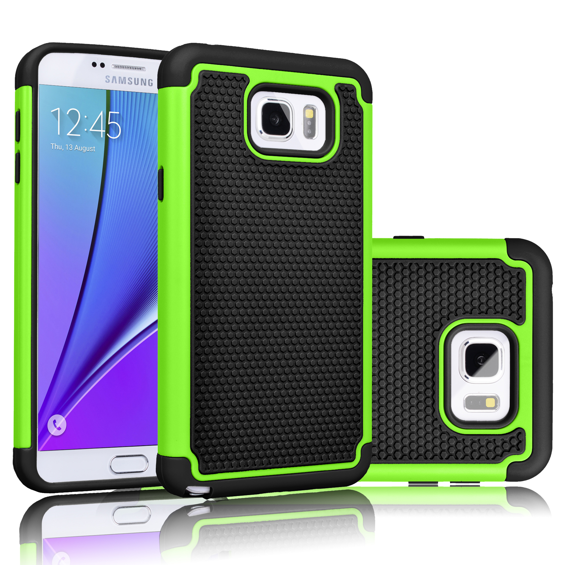 Galaxy Note 5 Case, Case Cover, Tekcoo [Tmajor] [Green Cases