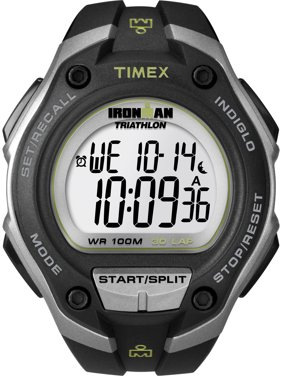 Timex Men's Ironman Classic 30 Oversized Watch, Black Resin Strap
