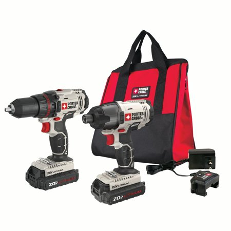 PORTER CABLE 20-Volt Max Lithium-Ion Cordless 1/2-Inch Drill And Impact Driver Combo Kit, - Cordless Kit