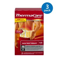 (3 Pack) ThermaCare Advanced Back Pain Therapy (2 Count, L-XL Size) Heatwraps, Up to 16 Hours Pain Relief, Lower Back, Hip Use, Temporary Relief of Muscular, Joint Pains