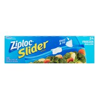 (2 pack) Ziploc Slider Freezer Bags, Gallon, 24 Ct