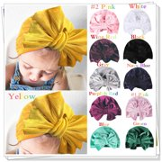 9498f02654d Cute Newborn Baby Infant Girl Toddler Comfy Bowknot Hospital Cap Warm  Beanie Hat