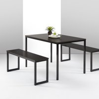 Zinus Louis Modern Studio Collection Soho Dining Table with Two Benches, Multiple Colors