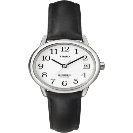 Patent Leather Watch (Women's Easy Reader Watch, Black Leather)