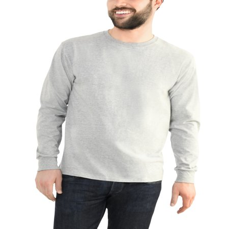Fruit of the Loom Men's Platinum EverSoft Long Sleeve T-Shirt, Available up to size