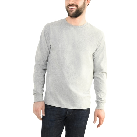 Cork Cotton T-shirt - Fruit of the Loom Men's Platinum EverSoft Long Sleeve T-Shirt, Available up to size 4X