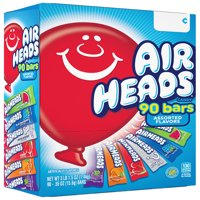 Airheads, Assorted Flavors Chewy Candy Bars, 90 Ct