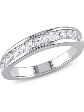 Miabella 3/4 Carat T.G.W. Created White Sapphire Sterling Silver Anniversary Ring
