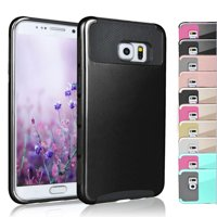 Samsung Galaxy S7 / S7 Edge / S6 / S6 Edge / S5 Cases Cover, Njjex Shock Absorbing Hybrid Case With Plastic Impact Defender Slim Hard Case Cover and Inner Rubber