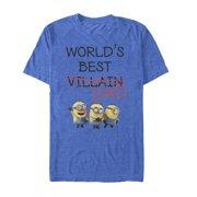 faeada47f Despicable Me Men's Minions World's Best Villain Dad T-Shirt