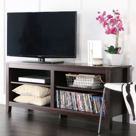 Wood Tv Media Storage Stand For Tv S Up To 60 Multiple Finishes