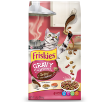Friskies Gravy Swirlers Adult Dry Cat Food, 6.3 lb
