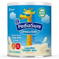 PediaSure Grow & Gain Shake Mix Vanilla 14.1 oz Can