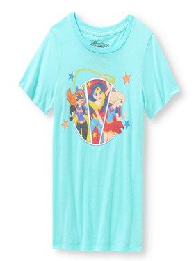 Wonder Woman, Batgirl and Supergirl Graphic T-Shirt (Little Girls & Big Girls)