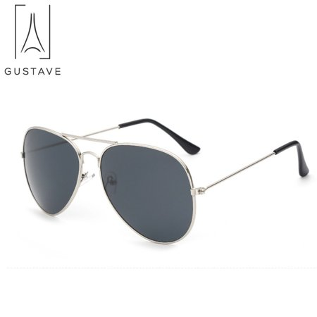 GustaveDesign Fashion Sunglasses for Men & Women Aviator Polarized Metal Mirror UV 400 Lens Protection Sun (Bronze Lens Sunglass Shades)