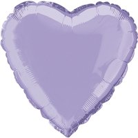 Foil Balloon, Heart, 18 in, Lavender, 1ct
