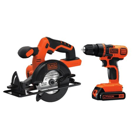 - BLACK+DECKER 20-Volt MAX* Lithium-Ion Drill-Driver + Circular Saw Combo Kit, BD2KITCDDCS