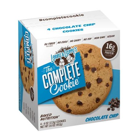 Lenny & Larry's The Complete Cookie, Chocolate Chip, 16g Protein, 4