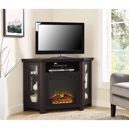 Corner Fireplace Tv Stand Media Console For Tvs Up To 55 Espresso