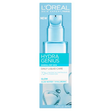 L'Oreal Paris Hydra Genius Daily Liquid Care For Normal to Dry Skin, 3.04 fl.